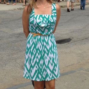 Dresses & Skirts - Teal and white dress